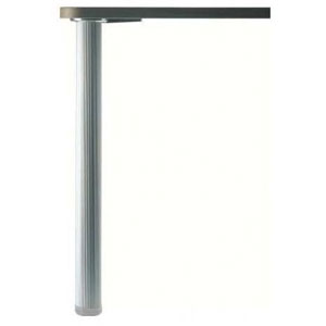 Pied de table aluminium cannelé