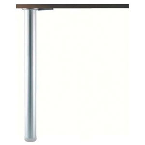 Pied de table en aluminium cannelé - Ø 60 mm