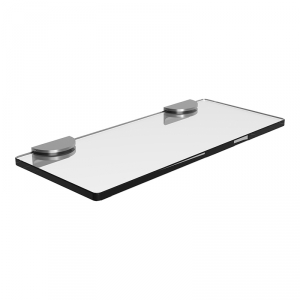 Tablette verre et supports inox