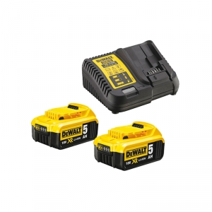 Pack 2 batteries 18V 5Ah + chargeur