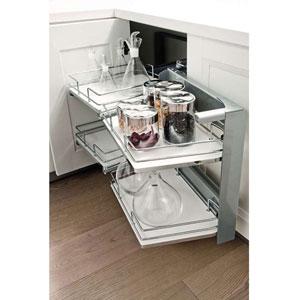 Rangements d 39 angle de cuisine bricotoo for Rangement coulissant pour meuble bas